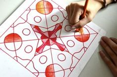 radial design using tracing paper