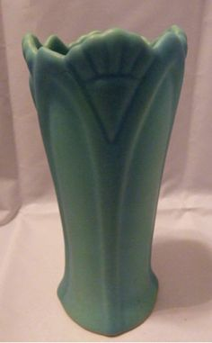 Van Briggle Turquoise Pottery Vase c.1950's, SOLD