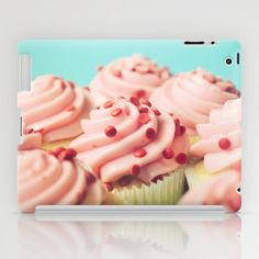 STRAWBERRY CUPCAKES PHOTOGRAPH iPad Case by Allyson Johnson - $60.00
