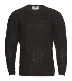 Cable knits are a firm favourite year in, year out. Embrace the utilitarian trend with this khaki version, only Mens Clothing Sale, Jumper, Men Sweater, Dark Khaki, Cable Knit, Top Sales, Knits, Knitting, Tricot
