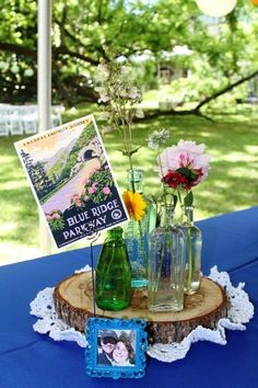 Whimsical Mountain Wedding Seating Chart And Reception Decorations