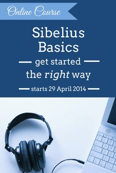 Sibelius Basics Online Course - learn how to get started with Sibelius the right way. Perfect for beginners or for those with a few holes in their knowledge!  http://www.midnightmusic.com.au/sibelius-basics-online-course/
