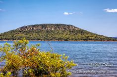 Sugarloaf Mountain in Greer's Ferry Lake at Fairfield Bay, Arkansas.