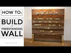 DIY Freestanding Display Wall - Jaime Costiglio : A tutorial to build a freestanding display wall perfect for any event space. Add ledges or other decor to create a stunning focal point. Retail Jewelry Display, Free Standing Wall, Retail Fixtures, Craft Fair Displays, Wall Backdrops, Wedding Backdrops, Diy Wedding Decorations, Church Decorations, Display Wall