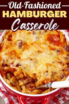 Hamburger Casserole, Casserole Recipes, Casserole Ideas, Ww Recipes, Cooking Recipes, Pasta Recipes, One Pot Meals, Easy Meals, Beef Bacon