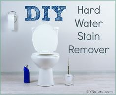 Use this DIY hard water stain remover recipe to clean your toilets and anything else that builds up stains from hard water. It's natural and easy to make!