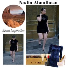"""""""Nadia Aboulhosn: Plus Size Model Inspiration"""" by drugstore-whore on Polyvore"""