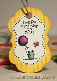 Adorable gift tags from Darlene design!