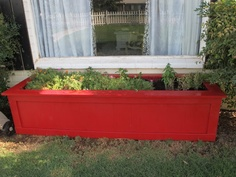 So my sweet sweet hubby attempted his first real carpentry project a little over a year ago by building me a planter {here}. Well, lets just…