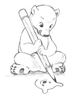 bear drawed a bear