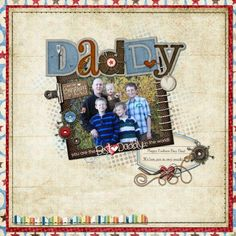 HM Gallery - Father's Day 8x8 Scrapbook Page - Great for framing! - See more at: http://www.heritagemakers.com/gallery/#/t/87037