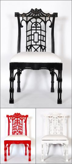 Chinese Chippendale dining chair ~ from one of my favorite southern designers.   Biggs Powell Chas. SC