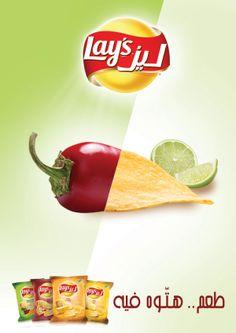 Lays New Flavours by Karim Samir, via Behance