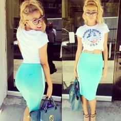 cropped tops & skirts