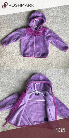 Girls North Face Fleece Hooded Jacket - Sz 2T Worn for one season, just some wash wear. The North Face Jackets & Coats