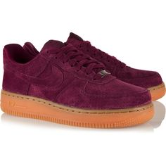 Nike Air Force 1 07 suede sneakers ($95) ❤ liked on Polyvore featuring shoes, sneakers, laced up shoes, rubber sole shoes, suede shoes, suede leather shoes and crew shoes