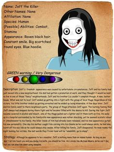 creepy pasta entries   ... entry jeff the killer by shadowgerbil-d4azuzx.jpg – Creepypasta Wiki