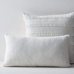 We put together some of our favorite pieces to create a pair of pillows that adds a finishing touch your space. This look brings together our Silk Hand-Loomed Lumbar Pillow Cover and Fringe Pillow Cover for an easy way to toss on beautiful texture… Moroccan Wedding Blanket, Driven By Decor, Pillow Texture, Silk Pillow, Lumbar Pillow, Bedding Shop, Decorative Throw Pillows, Modern Furniture, Bed Pillows