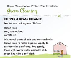 Copper and brass cleaner