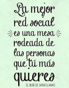 La Mejor red social es una mesa rodeada de las personas que tú mas quieres... mis queridas Amigas!
