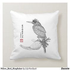 Pillow_Bird_Kingfisher Throw Pillow