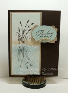 """Ok--talk to me on any given day and I have a new """"favorite"""" stamp set.or ice cream.or child, for that matter! KIDDING---about the child, anyway. Well, today, my favorite stamp set is. Wetlands Stampin Up, Stampin Up Cards, Links Of London, Penny Black, Tiffany & Co., Friendship Cards, Get Well Cards, Tampons, Sympathy Cards"""