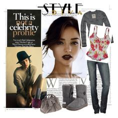 Be a Diva with Style by kristyivette on Polyvore featuring polyvore, fashion, style, Hollister Co., 7 For All Mankind, UGG Australia, Camomilla, OPI and DUO