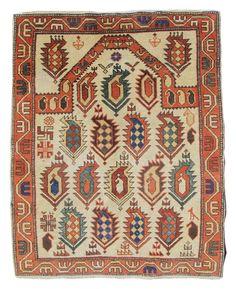 Shirvan Prayer Rug  Shirvan Prayer Rug Late 19th C Caucasus