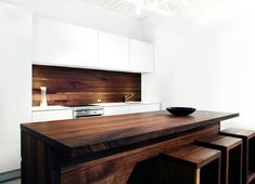 wooden kitchen bench. would look great with some industrial style lighting overhead. jedi habitat