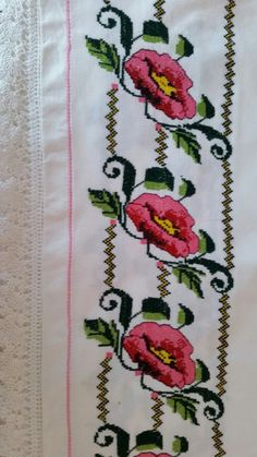 This Pin was discovered by Giz Diy Crafts Hacks, Ribbon Work, Le Point, Free Pattern, Cross Stitch, Cross Stitch Love, Cross Stitch Embroidery, Craft, Cross Stitch Designs