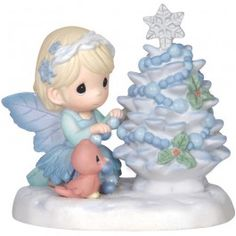 """""""May Your Christmas Be Bright"""" Bisque Porcelain Figurine"""