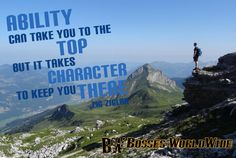 Have the ability of an expert and the character of a boss! #ThursdayThoughts Shop @ http://bossesworld.com/