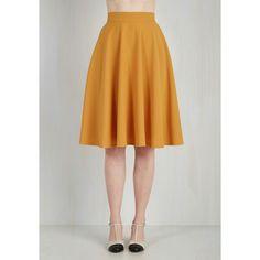 Long Full Bugle Joy Skirt ($27) ❤ liked on Polyvore featuring skirts, apparel, bottoms, full skirt, yellow, yellow maxi skirt, full a line skirt, long trumpet skirt, yellow a line skirt and long skirts