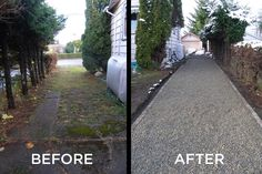 CORE Gravel dramatically improves the look of a driveway and the properties resale value. #drivewaylandscape