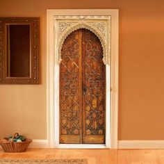 Trompe-l'oeil door, style Alhambra by Couture Deco