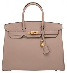 7076be03b002 Get one of the hottest styles of the season! The Herms Gris Tourterelle  Togo Birkin Gold Hardware Tote Bag is a top 10 member favorite on Tradesy.