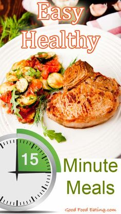 I'm a BIG fan of easy healthy meals, so here are some you can whip up in just 15 minutes! Fast Healthy Meals, Fast Easy Meals, Healthy Eating Recipes, Healthy Dishes, Cooking Recipes, Fast Dinners, Paleo Food, Healthy Food, Yummy Food