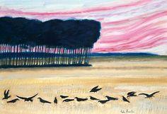 André Brasilier (b. 1929) Les corbeaux