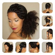 Natural Hair Tutorial | Side Puff + Twisted Bang