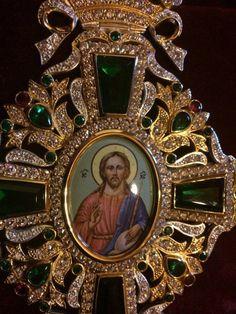 Orthodox Christian Bishop Archimandrite Priest Cross Pectoral Encolpion Vestment