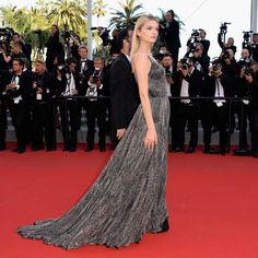 Cannes 2015 red carpet: what they're wearing on day six: Lily Donaldson in Saint Laurent.