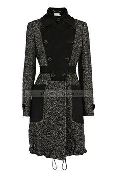 Home Karen Millen Tweed fabric mix coat