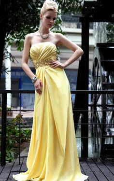 2012 Style A-line Strapless Beading Sleeveless Floor-length Elastic Woven Satin Prom Dresses / Evening Dresses Vestidos Boutique, Strapless Prom Dresses, Dress Prom, Dress Wedding, Homecoming Dresses, Pageant Dresses, Robes D'occasion, Military Ball Dresses, Dresses Short