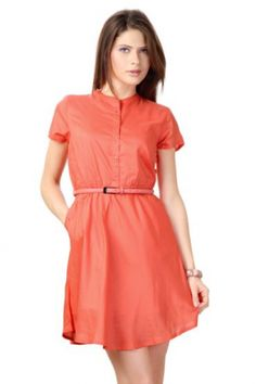 Van Heusen Woman Dresses, Band Collared Thigh-Length Dress for Women at Trendin.com