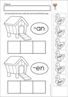 Sentence Scramble with Cut and Paste Worksheets