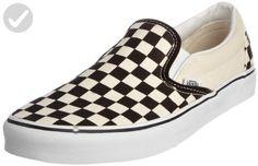 aefbfb8608bb3d Vans Unisex Classic Slip-On (Checkerboard) Blk whtchckerboard Wht Skate Shoe  7.5 Men