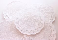 50 White French Lace Paper Doilies  Weddings by MailboxHappiness, $4.00