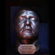 Marlon Brando death mask. Cast after his death before cremation