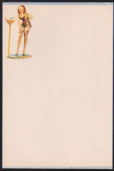 1940's Naked Girl Art Stationary Very RARE Letterhead 4 | eBay