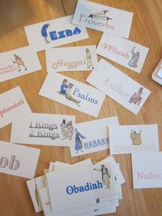 flashcards for memorizing the order of the books in the bible